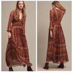 Anthropologie Ranna Gill Ceret Maxi Dress Size 4